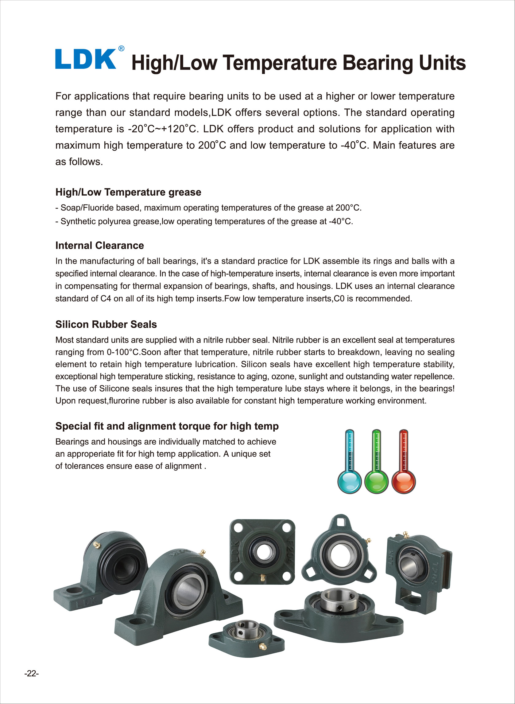 High/Low Tempertature Bearing